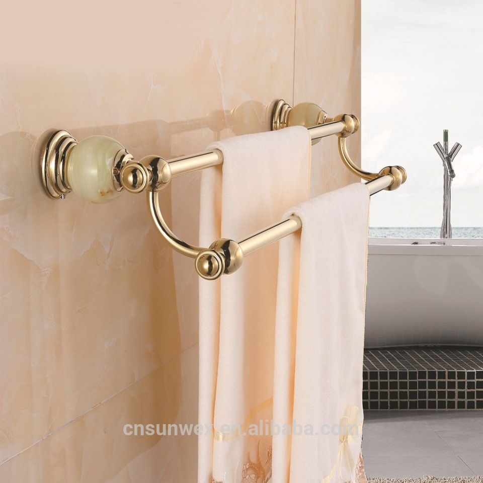 Marble Golden Bathroom Towel Holder Bathroom Towel Rack Bathroom