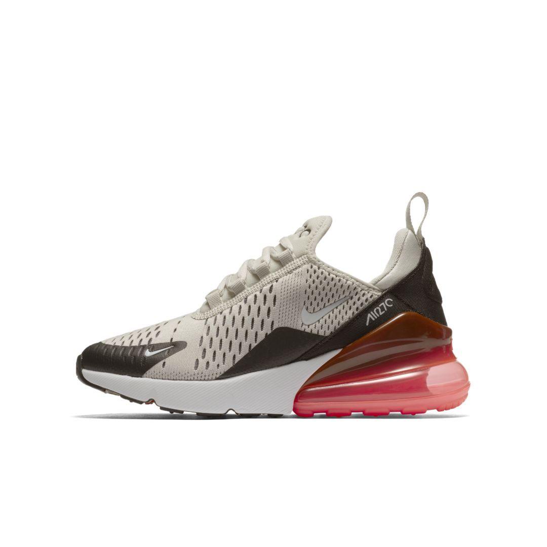 Womens Nike Air Max 270 Black Light Bone Running Shoes Size