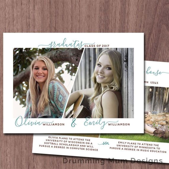 Twins graduation announcement twin graduation invitation high school twins graduation announcement twin graduation invitation high school photo graduation announcement college grad invite printable siblings stopboris Image collections