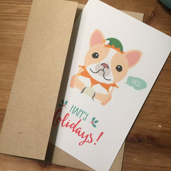 Meme holiday cards french bulldog yass christmas cards greeting meme holiday cards french bulldog yass christmas cards greeting cards funny cards hipster xmas christmas gift personalized m4hsunfo