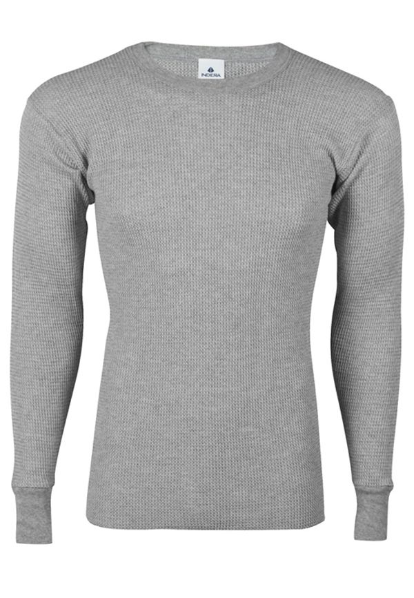 a6f947647157 Mens Waffle Knit Cotton Grey Thermal Shirt. Find this Pin and more on Men's  Underwear & Thermals ...