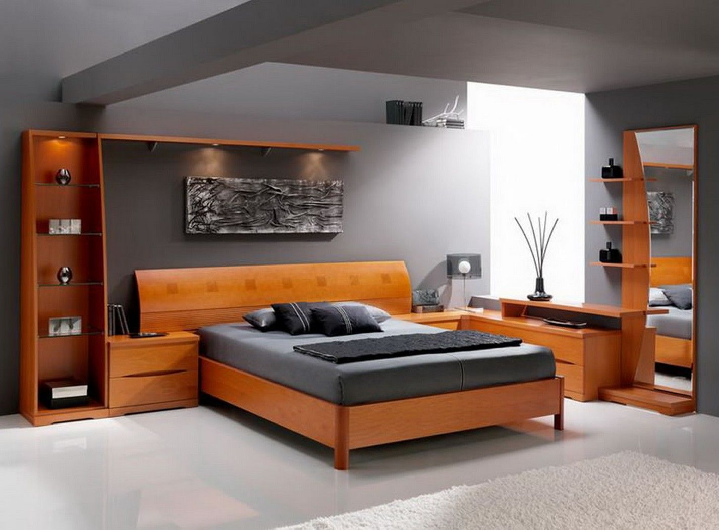 30 Awesome Image Of Mens Bedroom Furniture Masculine Men Design With Abstract Painting