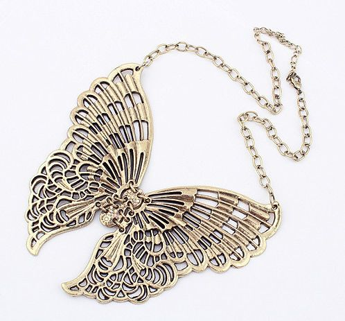 Retro Butterfly-Shaped Necklace