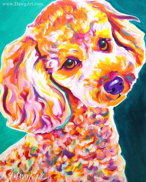 6973713d33df Poodle, Pet Portrait, DawgArt, Dog Art, Dog Painting, Pet Portrait ...
