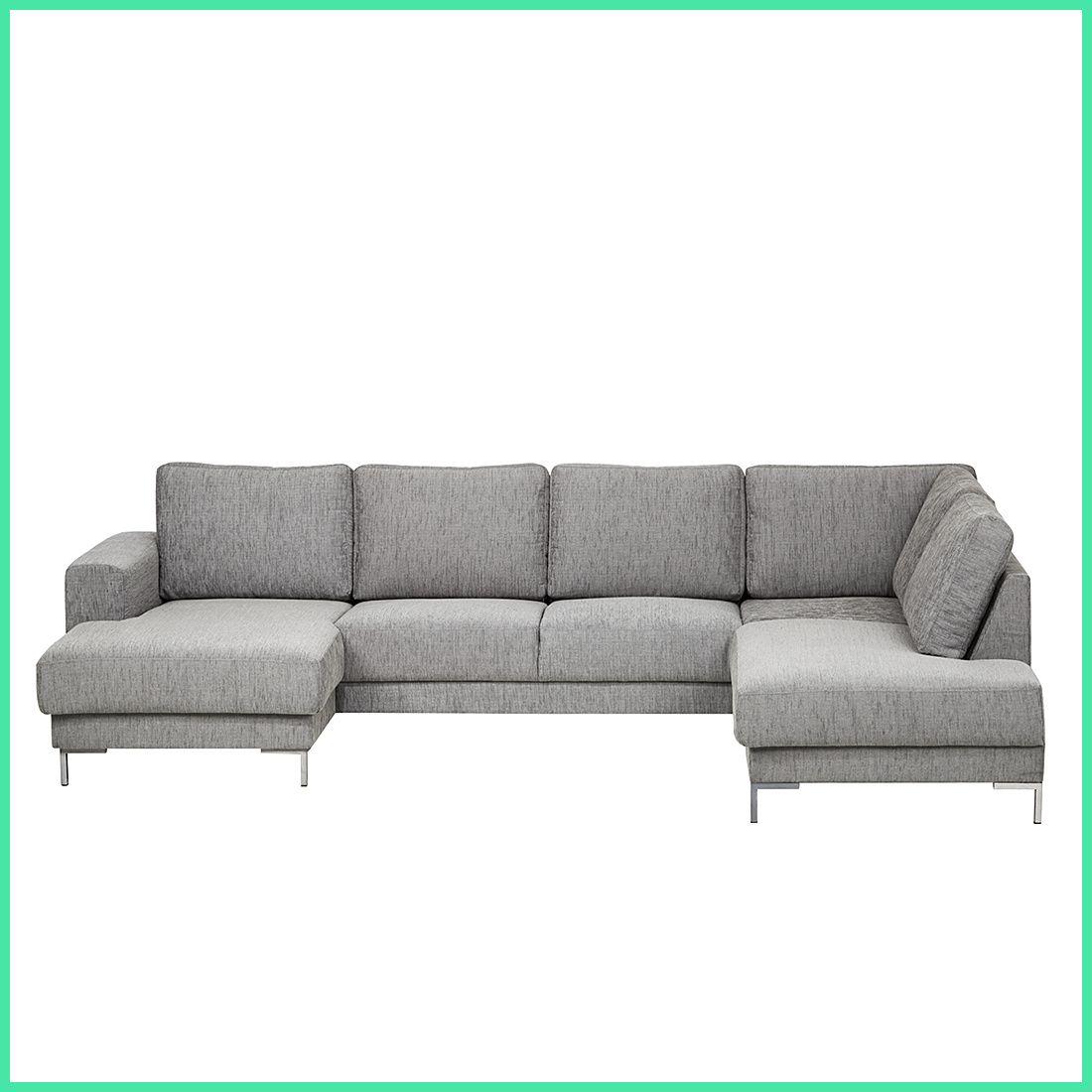 Wohnlandschaft Ecksofa Stoff Grau Sofa Couch Eckcouch Sofa