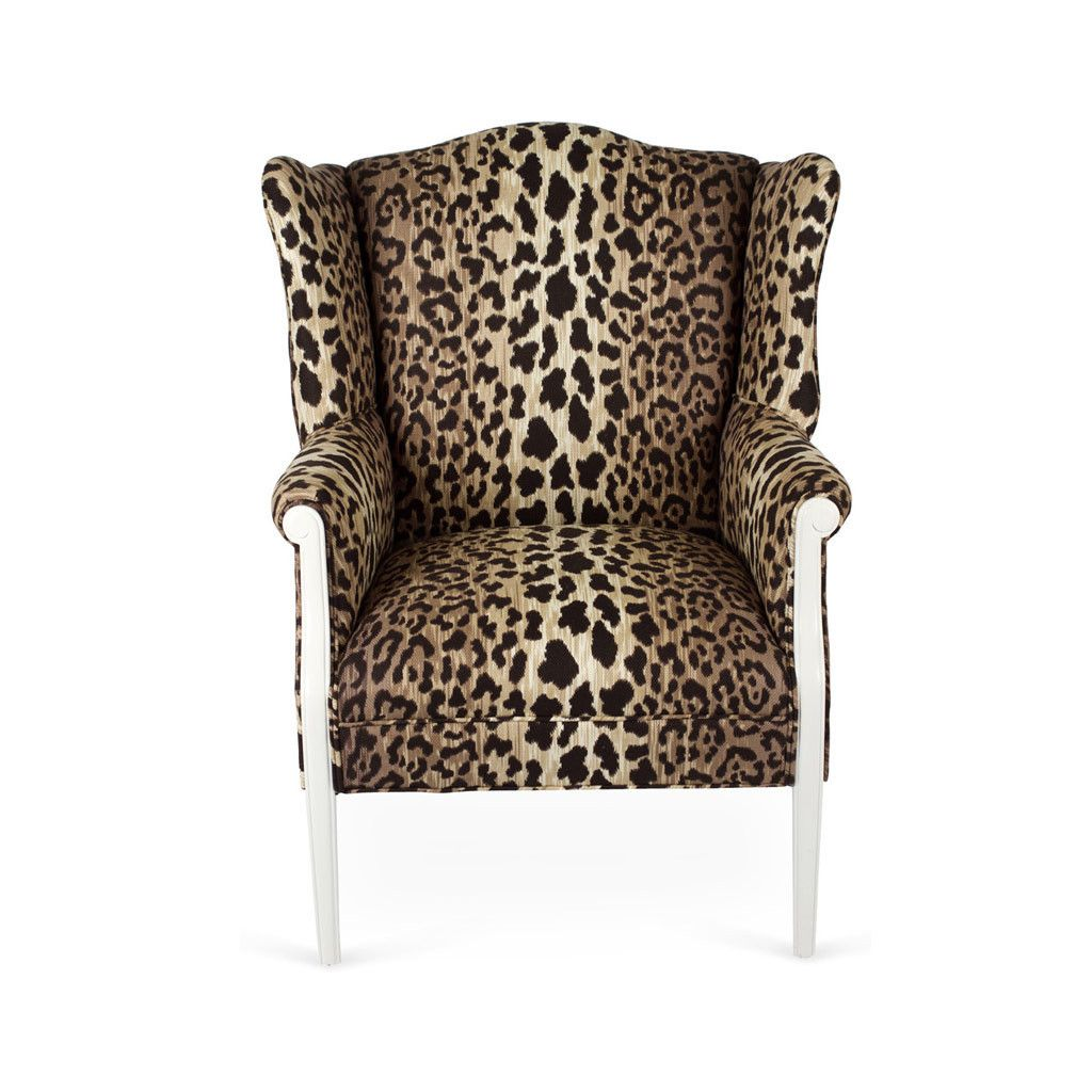 Attractive Cheetah Wing Chair