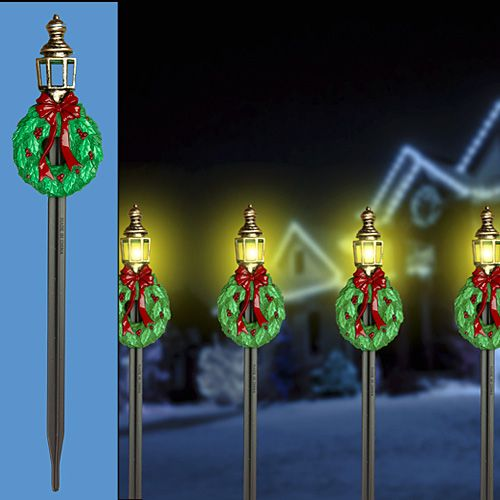 5 Pathway Lighting Tips Ideas Walkway Lights Guide: 10 PIECE LANTERN WITH WREATH PATH LIGHTS