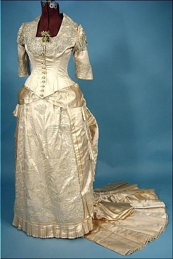 A History of the White Wedding Dress | Pinterest | Silk satin, Gowns ...