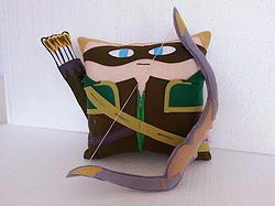 Handmade Justice League Green Arrow with Quiver and Bow Plush Pillow #marvel…