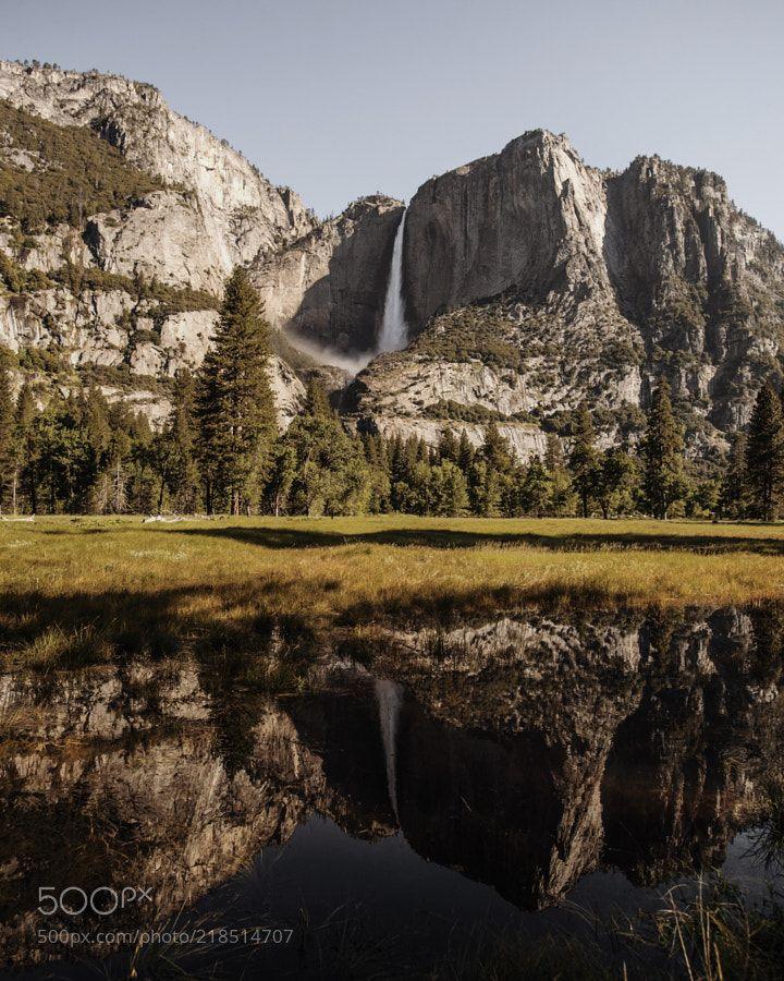 flooded meadows. yosemite falls. yosemite. california. by tannerwendell