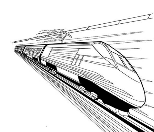 High Speed Train Coloring Page Color Luna Train Coloring Pages Coloring Pages Speed Training