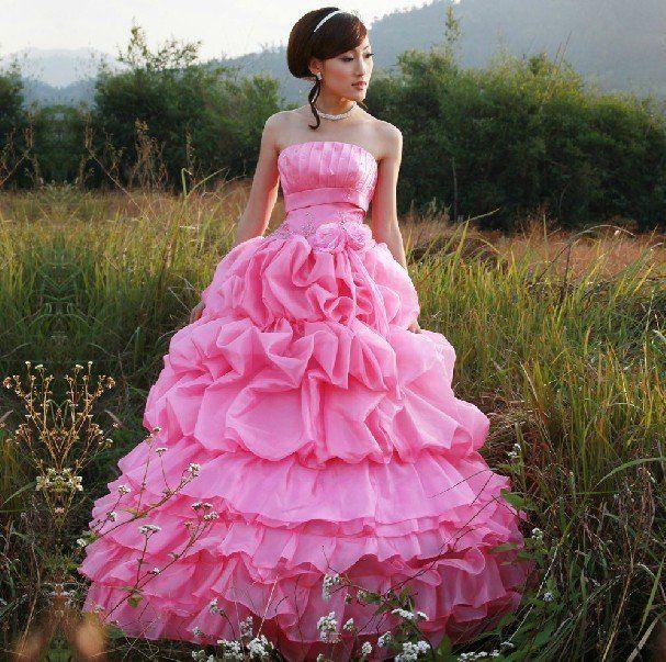 pink wedding dress - Google Search | ~ Pink | Pinterest | Wedding ...