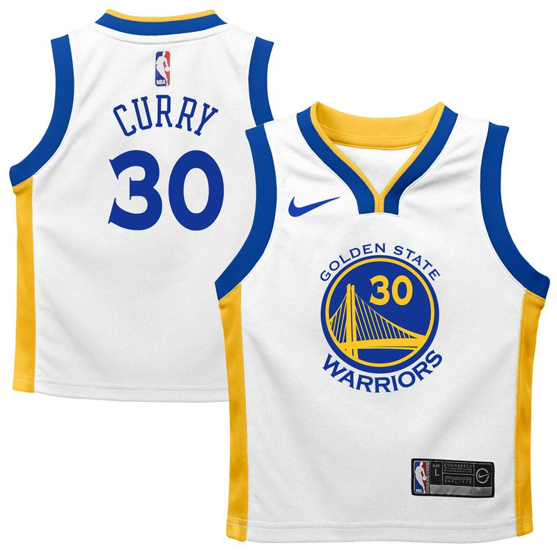 fba551cc9 Stephen Curry Golden State Warriors Nike Preschool Replica Jersey White -  Association Edition Durant Golden State