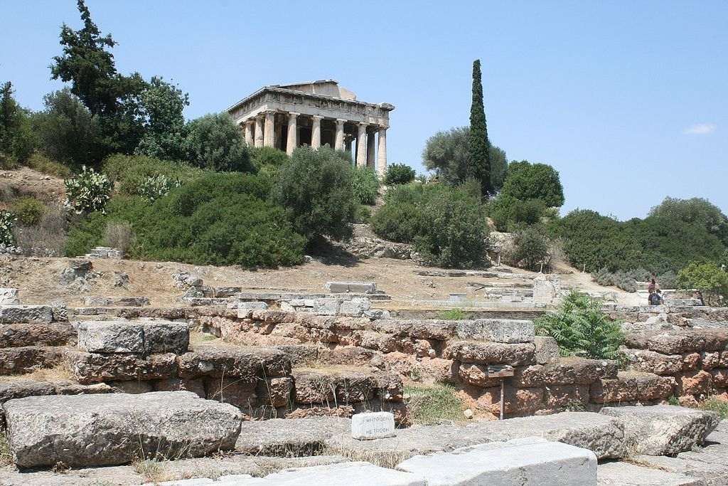 The Ancient Agora Temple Of Hephaestos Athens Greece 2009