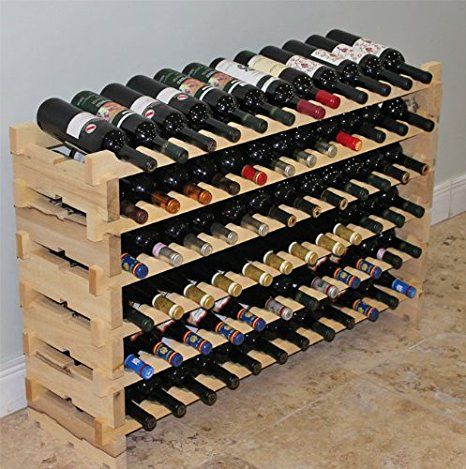 Amazon Com Stackable Modular Wine Rack Stackable Storage Stand
