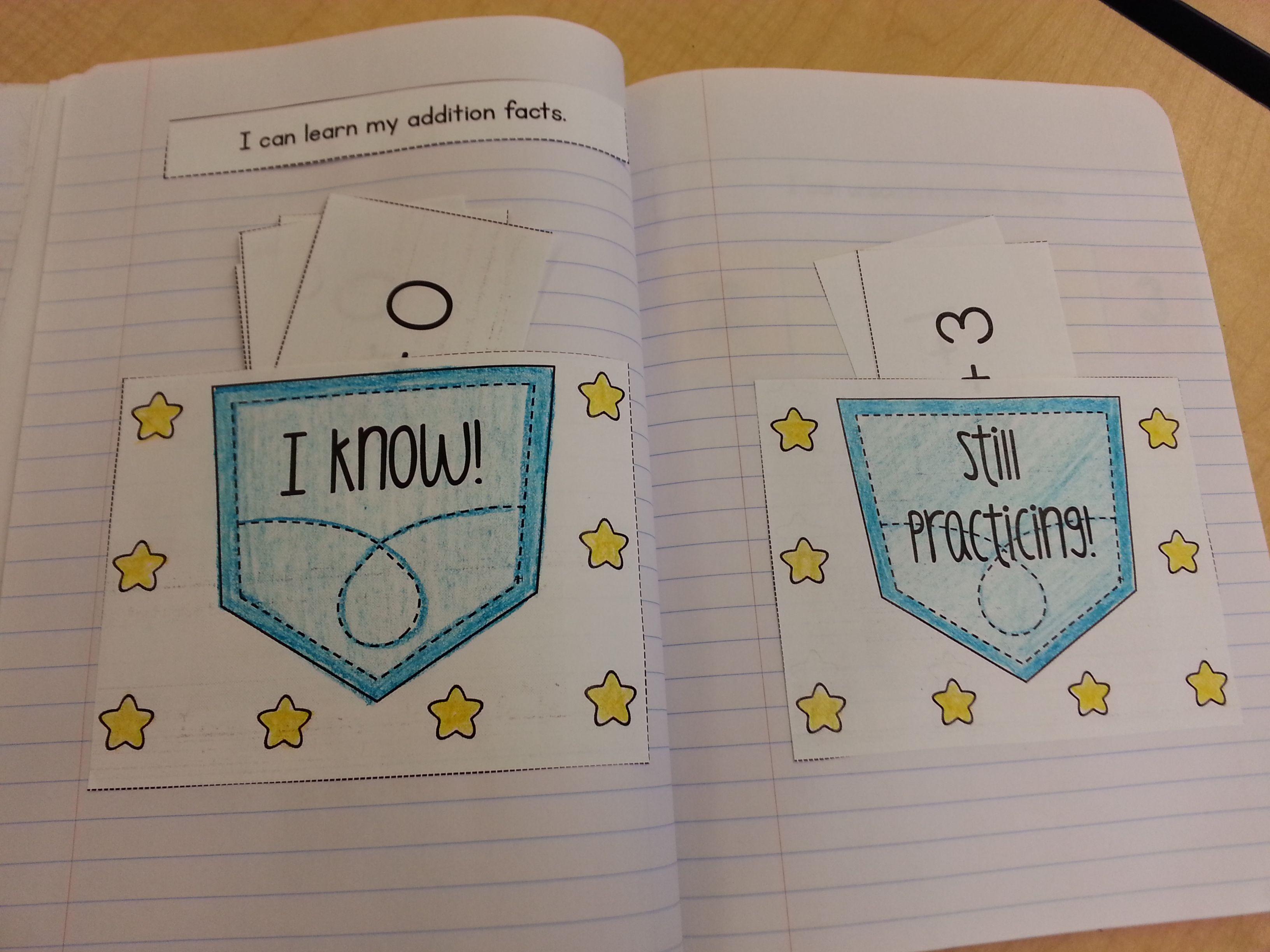 Interactive Math Notebook For Kindergarten Unit 8 Fact