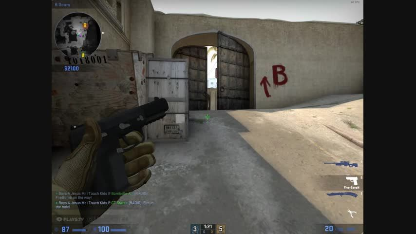 Nearly a ace but get CSGO'd by 64 tick