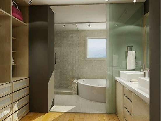 Vestidor con baño  Vestidores  Pinterest  Bedroom ...
