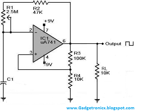 Square wave generator using IC741 | Electronics | Electronic