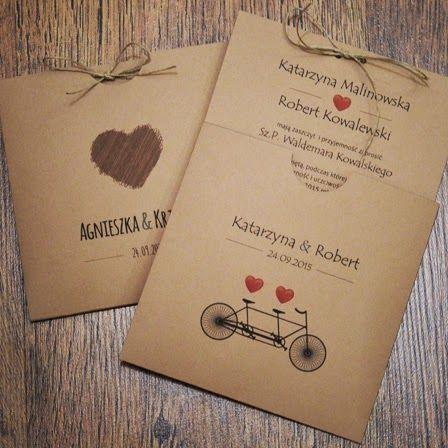 Ekawe Zaproszenie ślubne Ekologiczne Hand Made Handmade