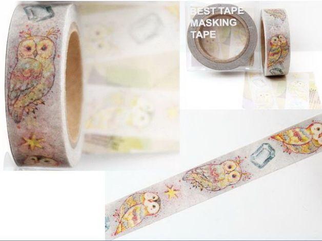 Owl Masking Tape - Owl Washi Tape Pinned by www.myowlbarn.com