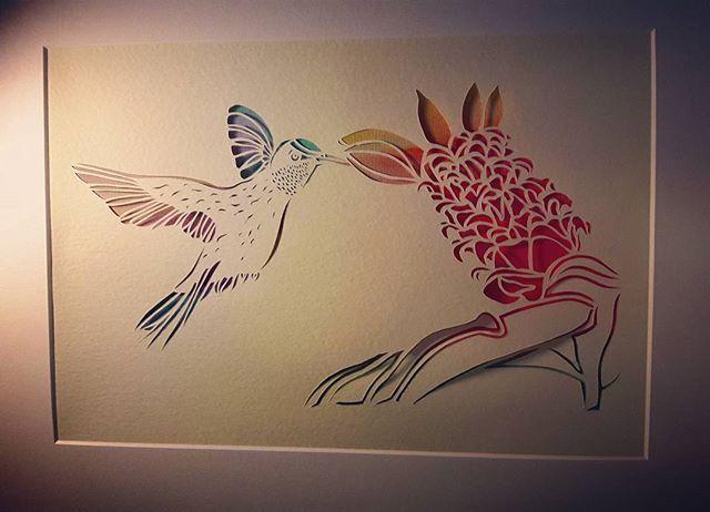 Ready to be packaged and priced... #papercutartist #papercutting #londonartist #marketstalltrader #handmade #handmadeisbest #watercolourart #watercolour #watercolourartist #hummingbird #hummingbirdart #artanddesign #jubileemarket