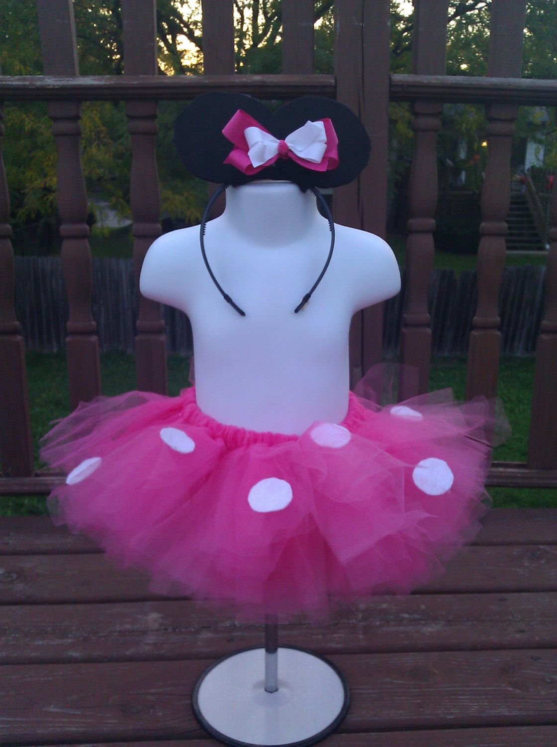 Pink Minnie Mouse inspired Party Pack - Minnie Mouse Tutu - Birthday ...