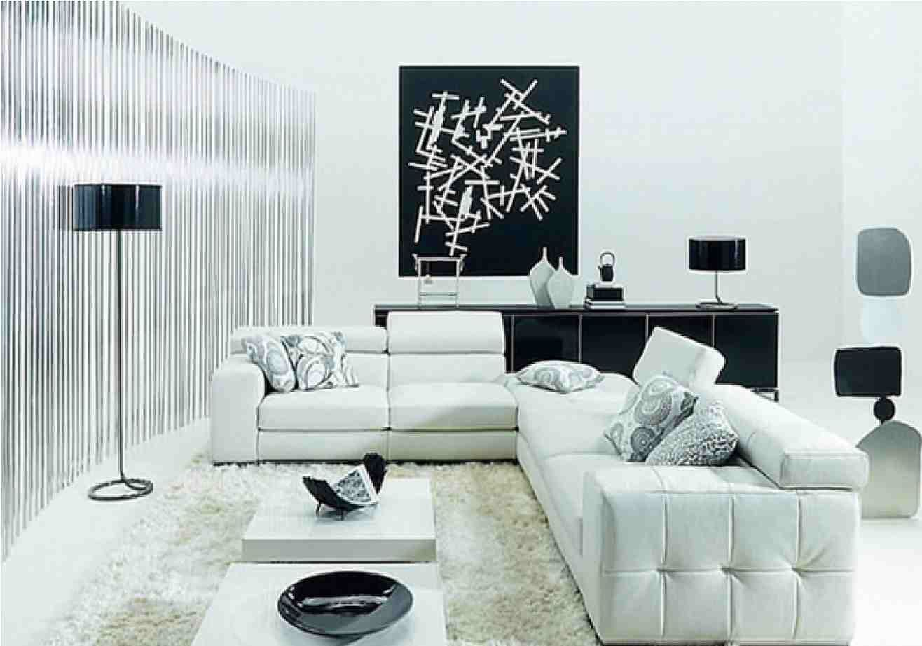 17 Inspiring Wonderful Black and White Contemporary Interior Designs  White  Living Room ...