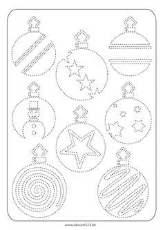 weihnachtliches nachfahren - | vorschule weihnachten