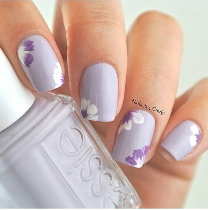 Flower nail art could be a extraordinary universe product of endless  potentialities, formed by talent and style. - Violetta Nails Pinterest Flowers, Manicure And Nail Nail