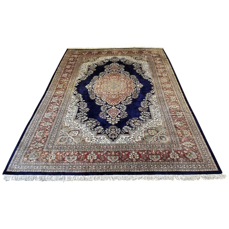 Large Indian Kashmir Silk Area Rug