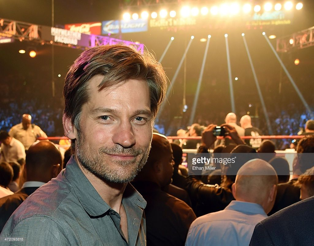 Actor Nikolaj Coster-Waldau poses ringside at \'Mayweather VS ...