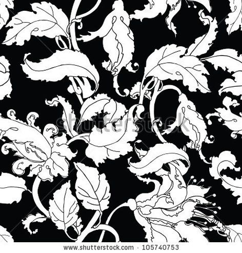 Elegance Seamless pattern with flowers ornament, vector floral illustration in vintage style