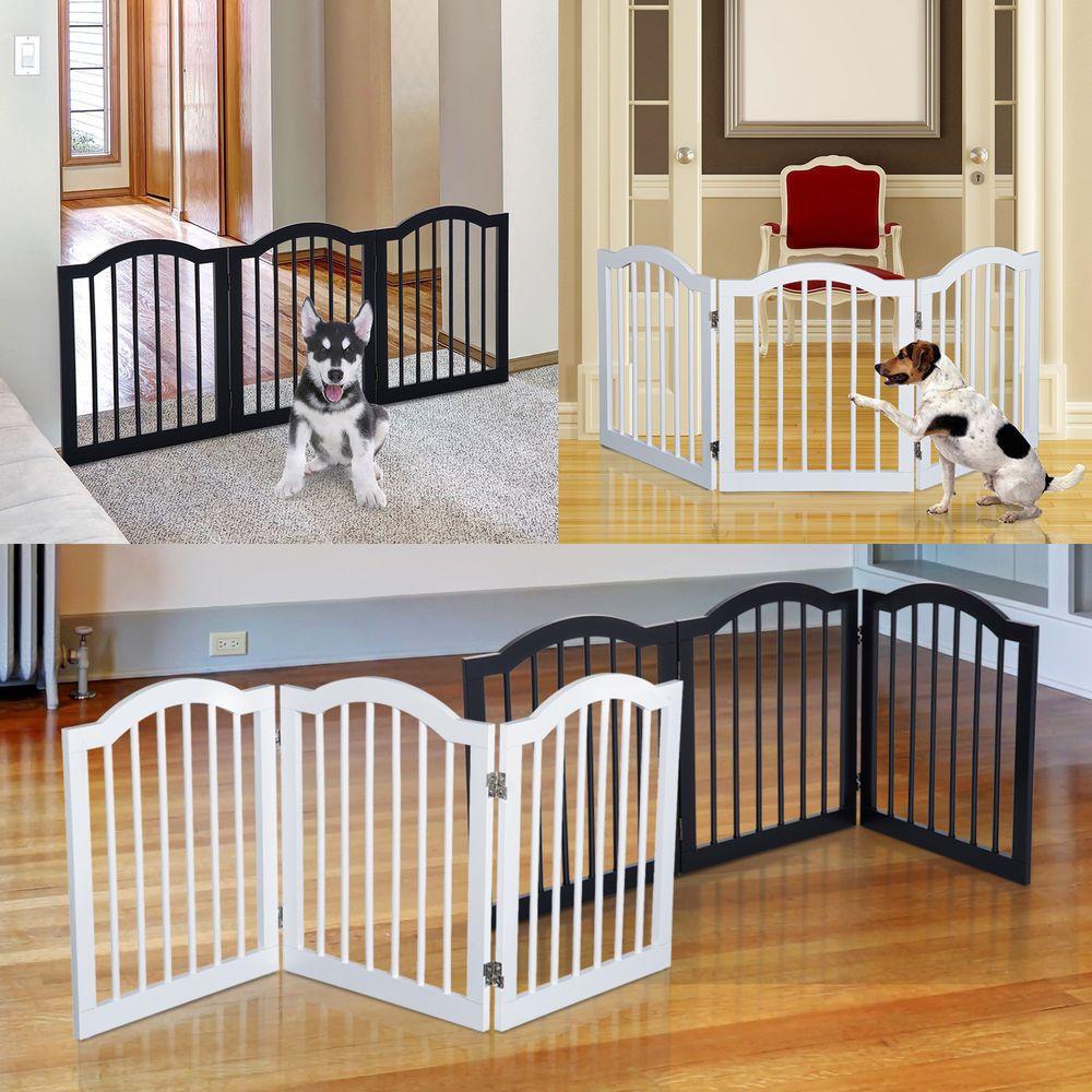 Details about 3 panels dog gate pet cat fence safety