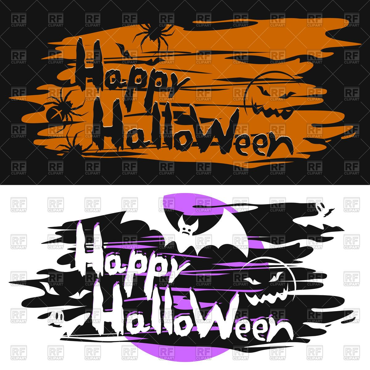 Attirant Cards For The Halloween Vector Image U2013 RFclipart