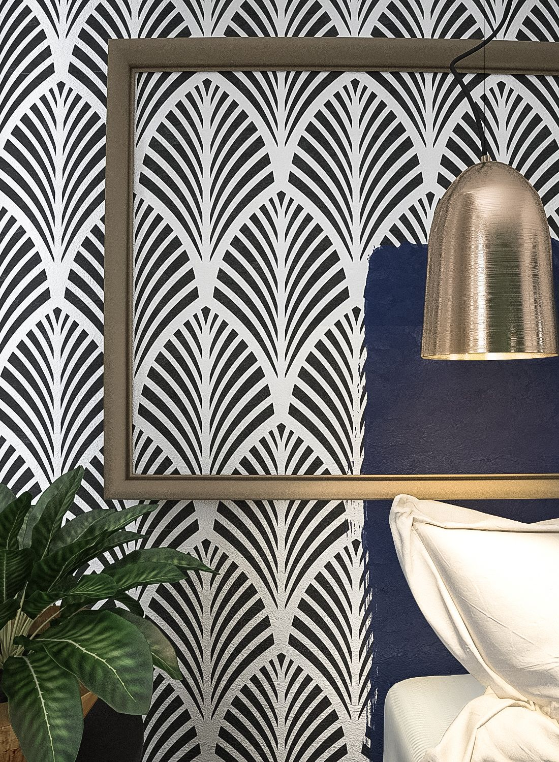 With the help of pattern wall stencils you can make the interior of your home look more saturated and exciting you can also give it a touch of romance and