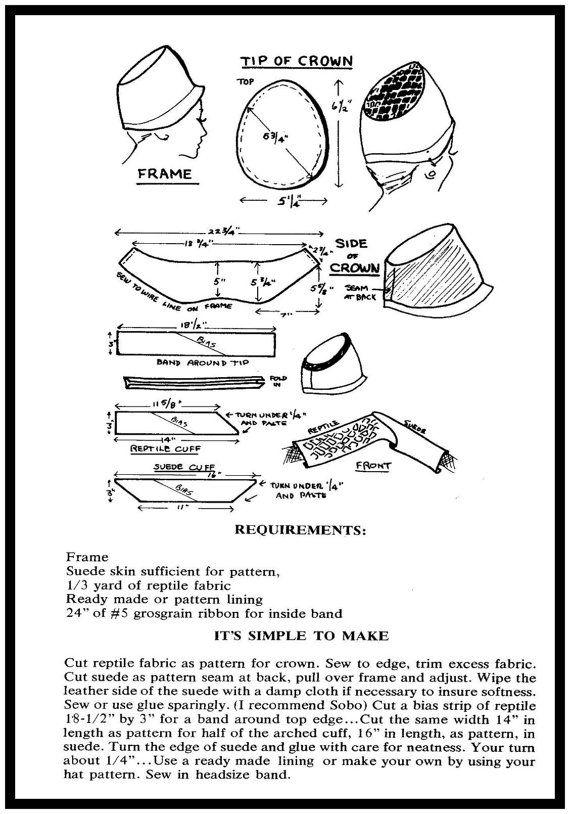 1960s EURO MOD Millinery Pattern by FarfallaDesignStudio on Etsy ...