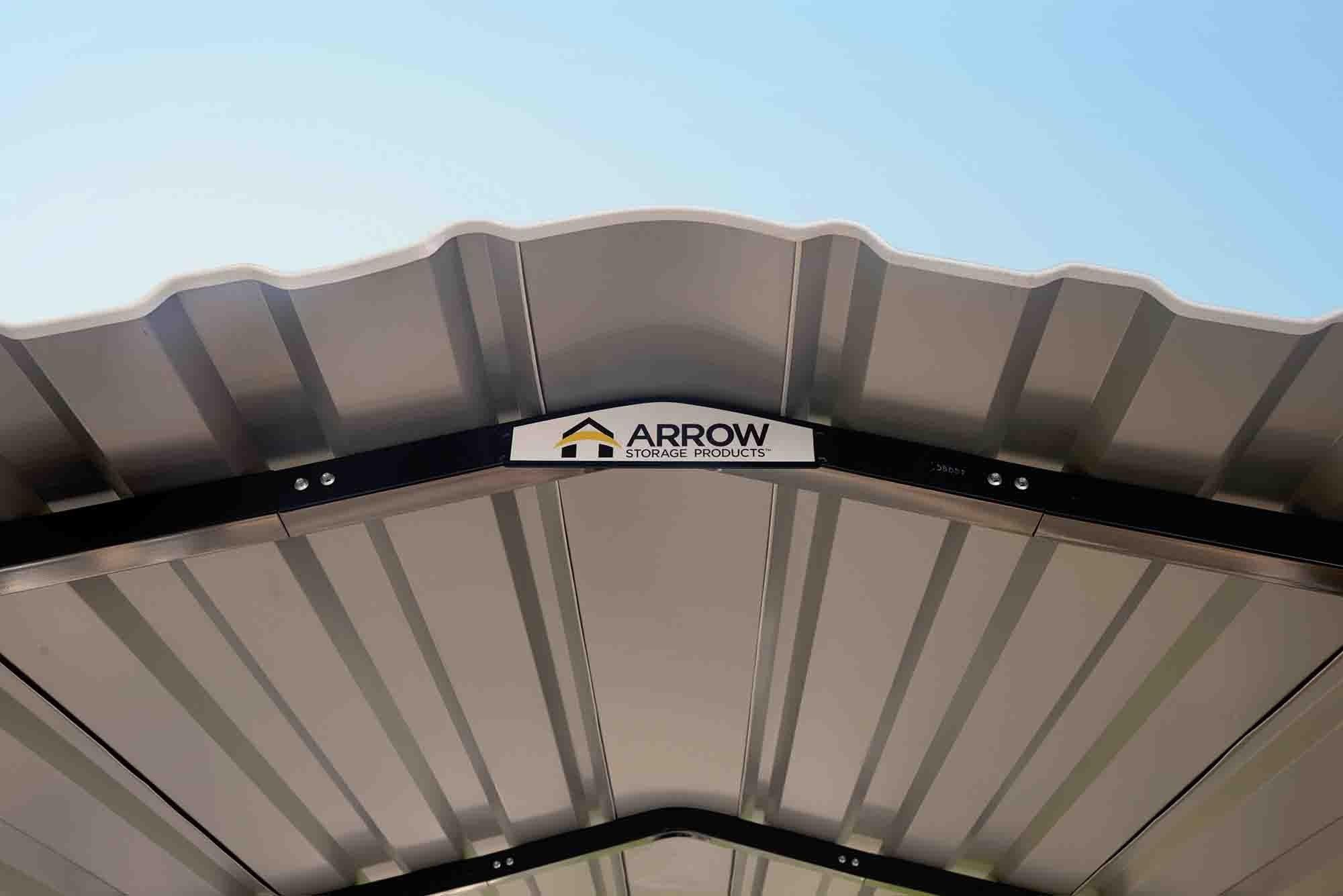 Arrow Arrow Carport 10x15x7, 29 Gauge Galvanized Steel