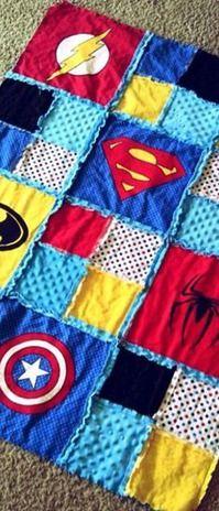 Pin by Becky Watt on Tshirt and memory quilts | Pinterest | Rag ... : superhero quilts - Adamdwight.com