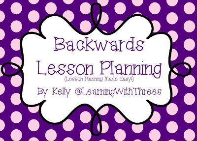 Engaging Preschool Minds... & Hearts: Backwards Lesson Planning