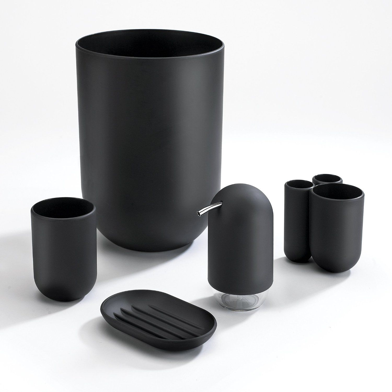 Amazon.com - Umbra Touch Bathroom Waste Can, Black