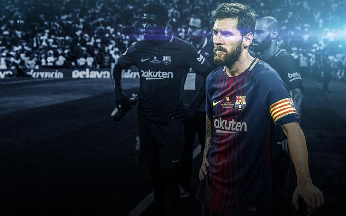 Download wallpapers Messi, fan art, 4k, FC Barcelona, football stars, La Liga, Spain, Barca, Lionel Messi, Barcelona, Leo Messi