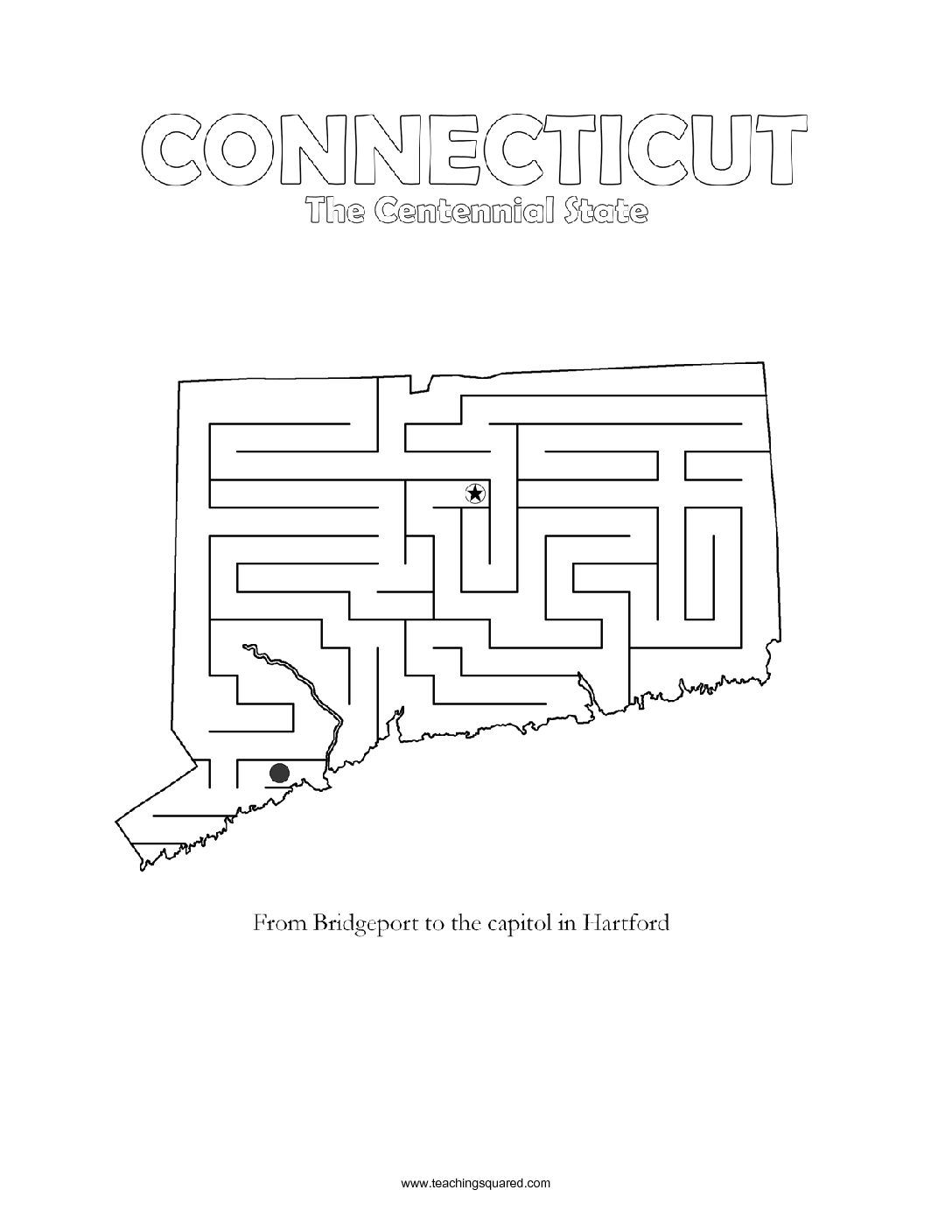 Fun Connecticut Maze Game Top Worksheets
