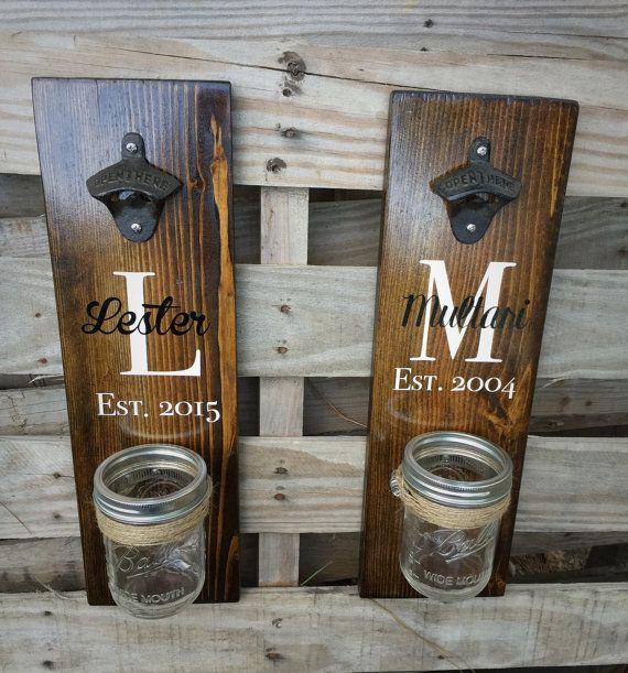 Wood Bottle Opener Beer Opener Wall Mount Beer Bottle