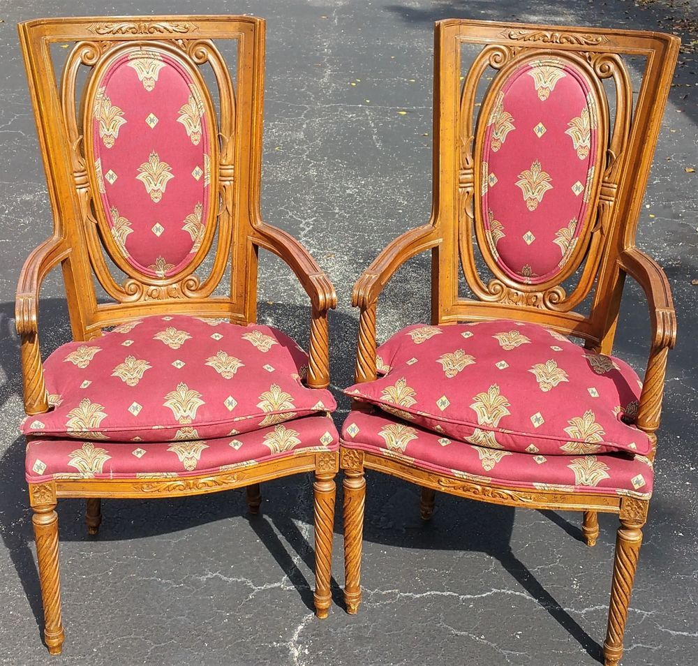 wood accent chairs with cushions