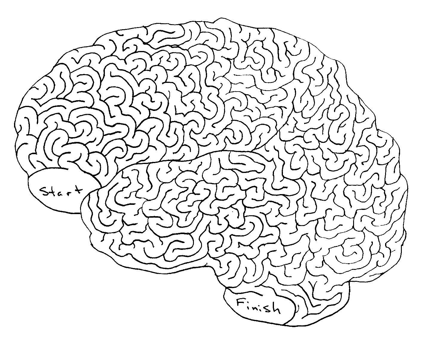 how to draw a totally sweet brain maze