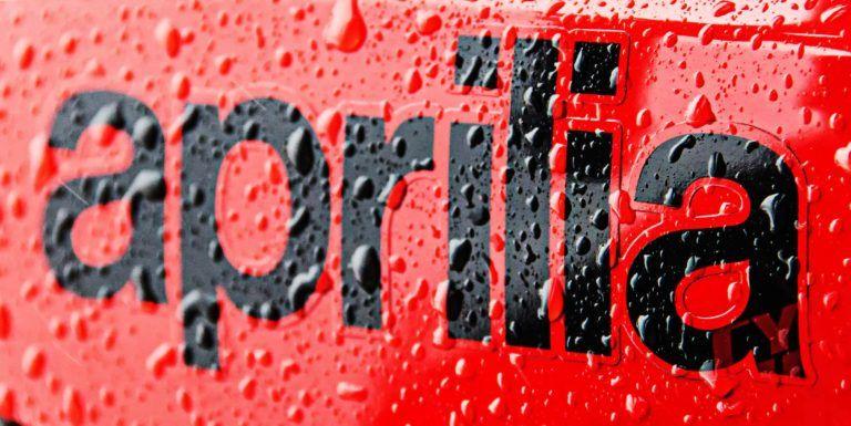 "Aprilia Red Vinyl Sticker Decal 5/"" x 2.5/"" Logo Racing"