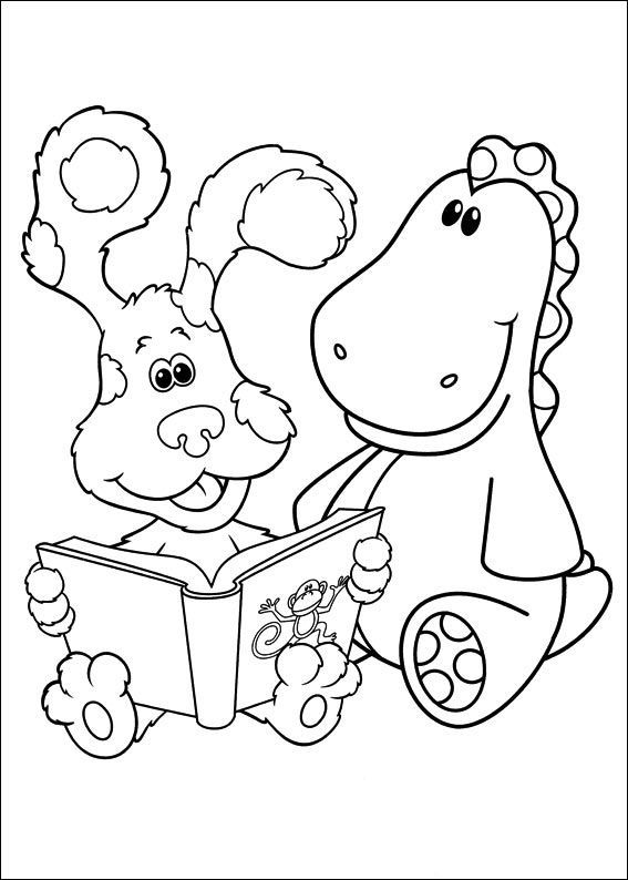 Blues Clues Read Books With Friends   Blue\'s clues Coloring Pages ...