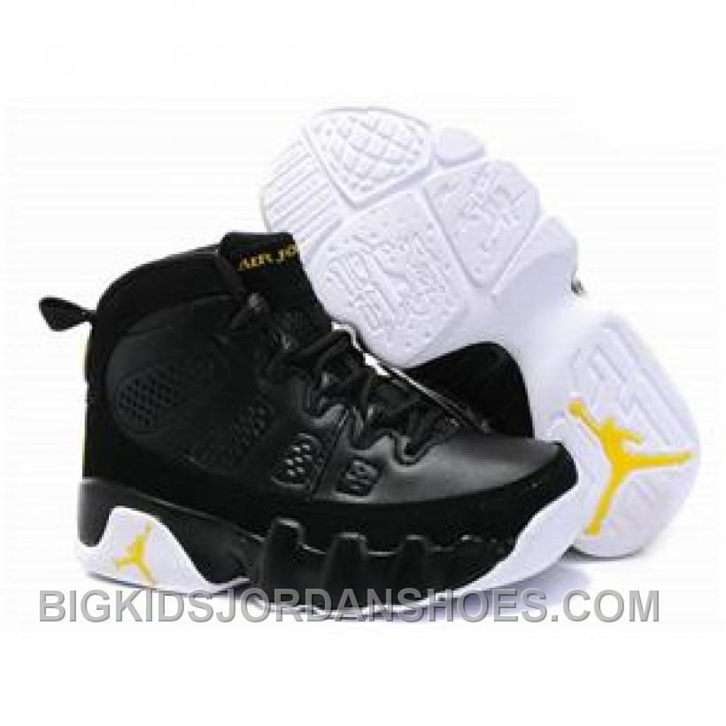 New Arrival Kids Air Jordan 9 Black White Yellow, Price: $75.71 - Big Kids  Jordan Shoes - Kids Jordan Shoes - Cheap Jordan Kids Shoes