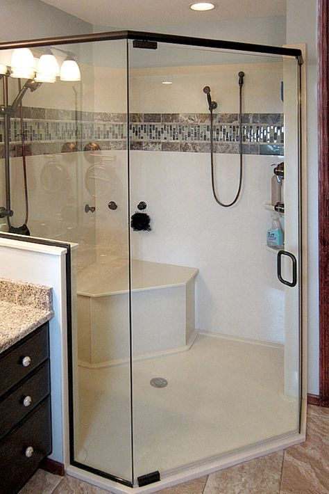 How To Design A Solid Surface Shower Pan Small Bathroom With